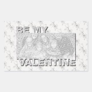AJOUTEZ votre photo soit mon cadre de Valentine -  Stickers En Rectangle