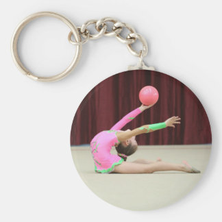 Ajoutez votre porte - clé de gymnastique porte-clé rond