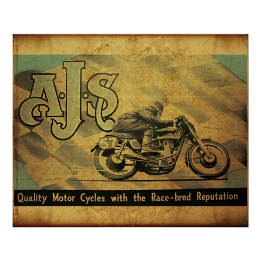 AJS Motorcycle of England Poster