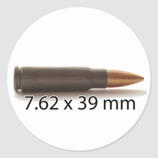 AK47 Ammo 7.62x39mm Round Sticker