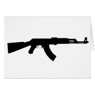 Ak47 Gun Greeting Card