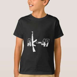 AK-47 AKM Assault Rifle Logo White.png Tshirts