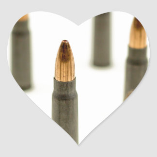 AK-47 Ammo Bullet AK47 Cartridge 7.62x39 Heart Sticker