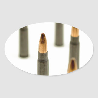 AK-47 Ammo Bullet AK47 Cartridge 7.62x39 Oval Sticker