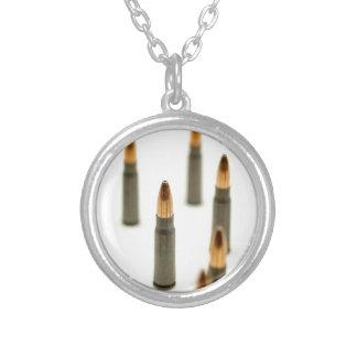 AK-47 Ammo Bullet AK47 Cartridge 7.62x39 Silver Plated Necklace