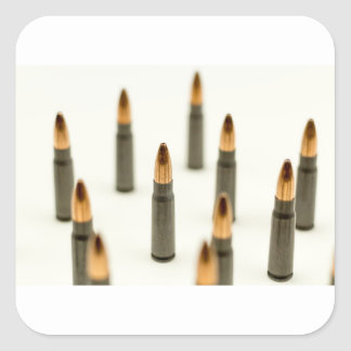 AK-47 Ammo Bullet AK47 Cartridge 7.62x39 Square Sticker