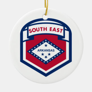 AKANASAS  FLAG zazzle Ceramic Ornament