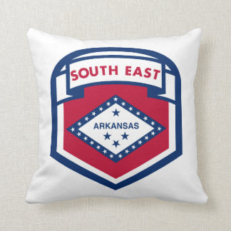 AKANASAS  FLAG zazzle Throw Pillow