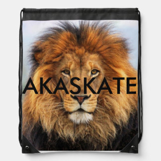 AKASKATE LION DRAWSTRING BACKPACK