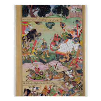 Akbar receiving the drums and standards captured f posters