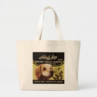 Akbash Dog Brand – Organic Coffee Company Jumbo Tote Bag