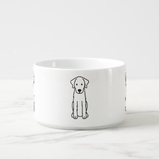 Akbash Dog Cartoon Bowl