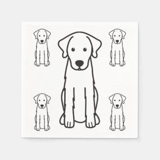 Akbash Dog Cartoon Paper Napkin