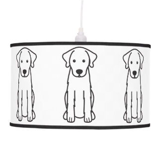Akbash Dog Cartoon Pendant Lamp