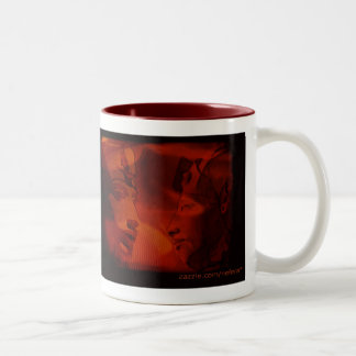 akhenaton haunts the sands of Egypt Two-Tone Coffee Mug