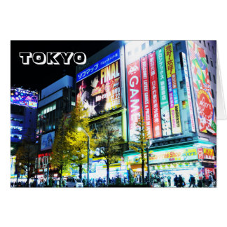 Akihabara (Electric City) in Tokyo, Japan Card