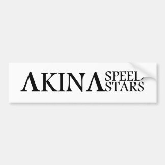Akina Speed Stars Black and White Bumber sticker Bumper Sticker