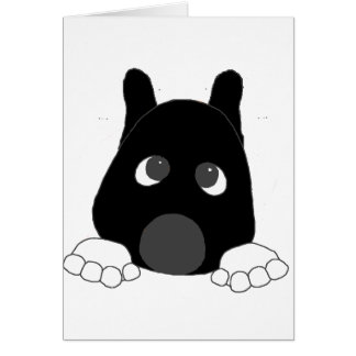 akita black mask white markings peeping card