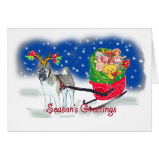 AKITA_Christmas_Sleigh Card