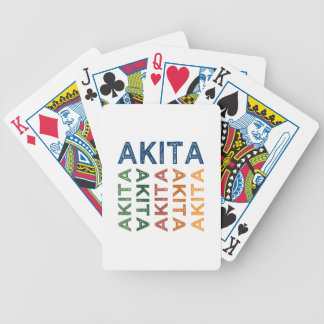 Akita Cute Colorful Bicycle Playing Cards