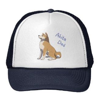 """Akita dad"" more trucker cap Trucker Hat"