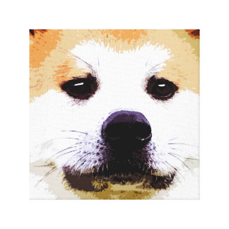 Akita dog canvas print