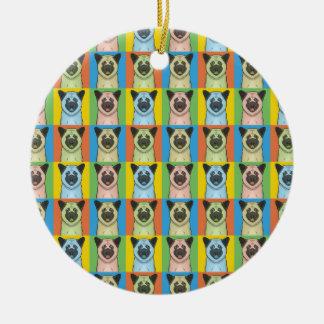 Akita Dog Cartoon Pop-Art Ceramic Ornament