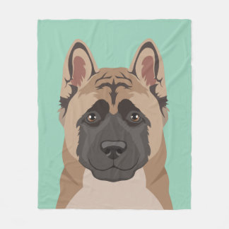 Akita Fleece Blanket