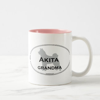 Akita Grandma Two-Tone Coffee Mug