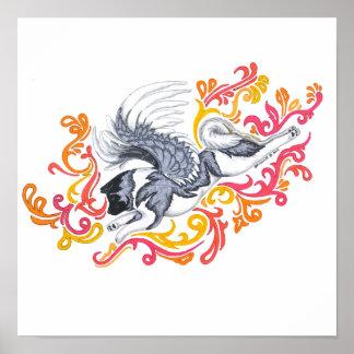 akita guardian spirit print
