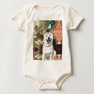 Akita Inu Dog Baby Bodysuit