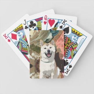 Akita Inu Dog Bicycle Playing Cards