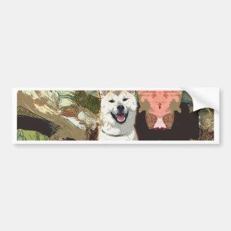 Akita Inu Dog Bumper Sticker