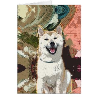 Akita Inu Dog Card