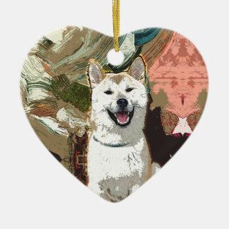 Akita Inu Dog Ceramic Ornament