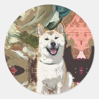 Akita Inu Dog Classic Round Sticker