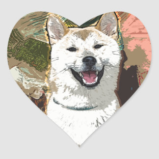 Akita Inu Dog Heart Sticker