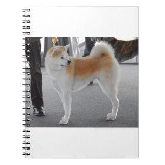 Akita Inu Dog In A Dog Show Notebooks