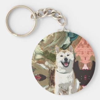 Akita Inu Dog Keychain