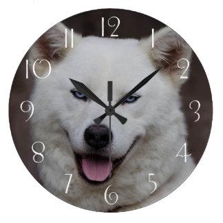 Akita Inu dog Large Clock