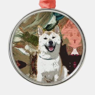 Akita Inu Dog Metal Ornament