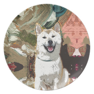 Akita Inu Dog Plate
