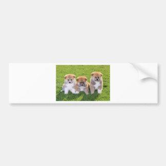 Akita Inu Dog Puppies Bumper Sticker