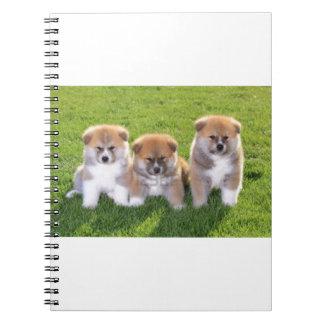 Akita Inu Dog Puppies Notebook