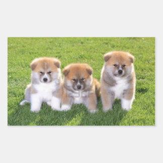 Akita Inu Dog Puppies Sticker