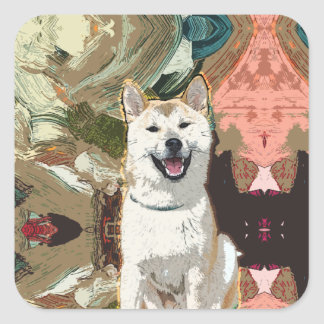 Akita Inu Dog Square Sticker