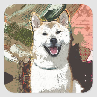 Akita Inu Dog Square Sticker