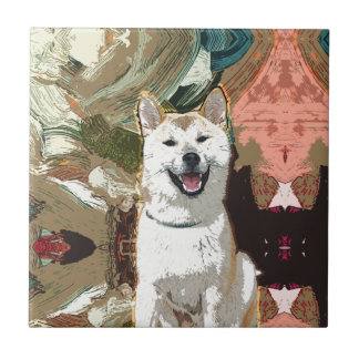 Akita Inu Dog Tile