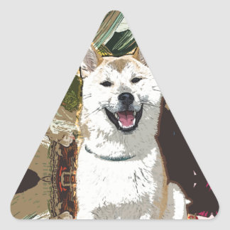 Akita Inu Dog Triangle Sticker
