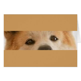 Akita_Inu  red eyes Card